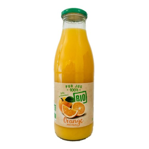Pur jus d'orange avec pulpe BIO 75cl
