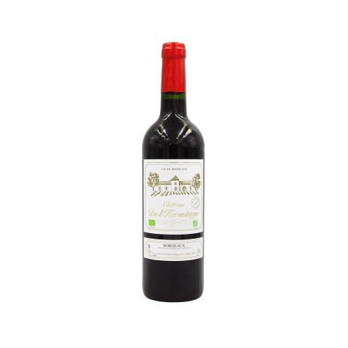 Vin rouge Bordeaux Ch.de l'Hermi BIO AOC