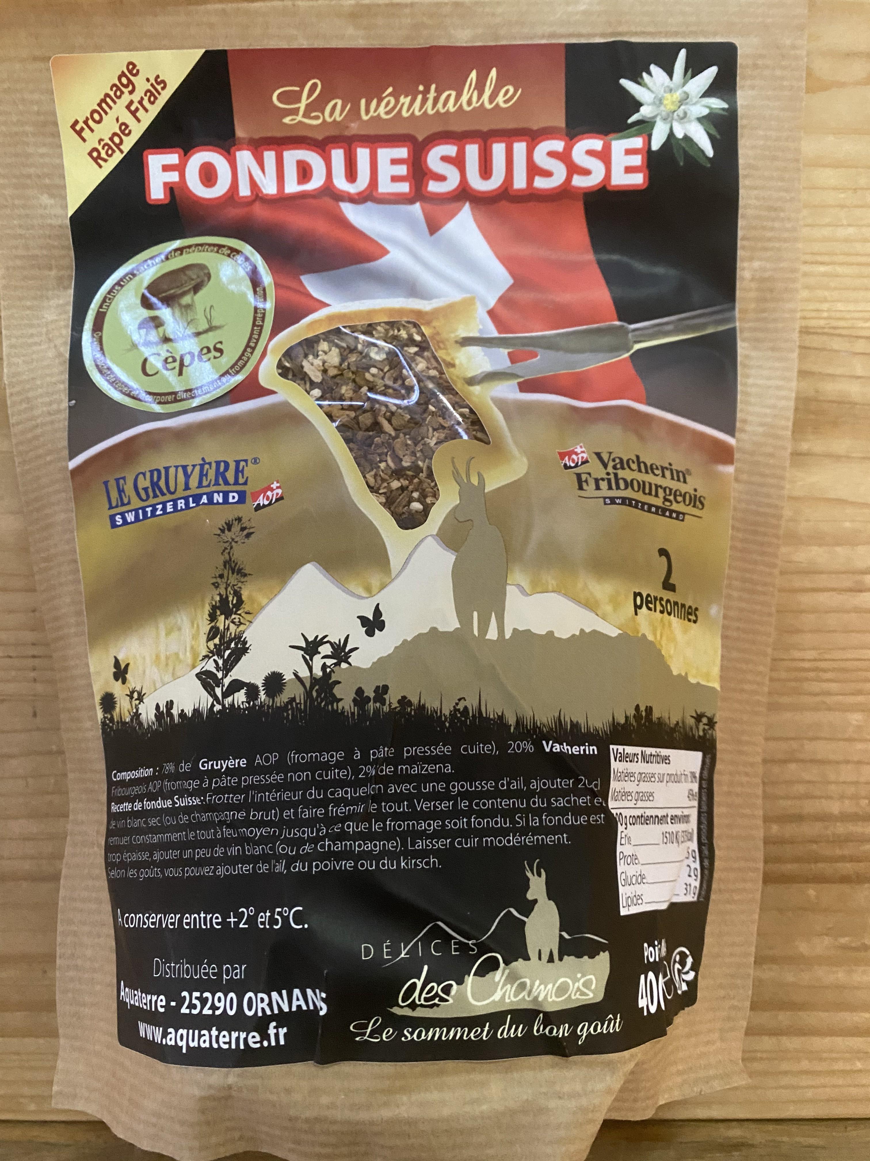 Fondue Suisse aux Cèpes